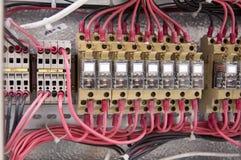 Diagrama eléctrico del panel de control de cableado Imagen de archivo libre de regalías