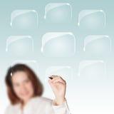Diagrama em branco do negócio com lotes do quarto Fotos de Stock