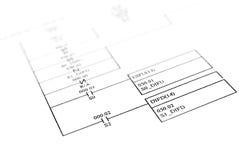 Diagrama esquemático Imagenes de archivo