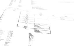 Diagrama esquemático Imágenes de archivo libres de regalías