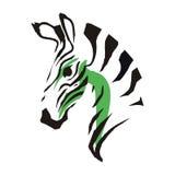 Diagrama esquemático da zebra Imagens de Stock Royalty Free