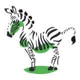 Diagrama esquemático da zebra Imagens de Stock
