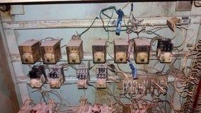 Diagrama esquemático de la conexión del motor eléctrico imagen de archivo