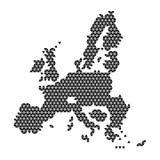 Diagrama esquemático del extracto del mapa de la unión europea de los triángulos negros que repiten el fondo geométrico del model libre illustration