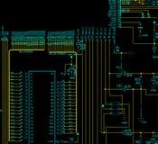 Diagrama esquemático do circuito eletrônico Fotografia de Stock Royalty Free