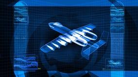 Diagrama esquemático militar del diseño del avión de combate 3D ilustración del vector