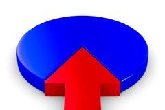 Diagrama financeiro no fundo branco 3D isolado Foto de Stock