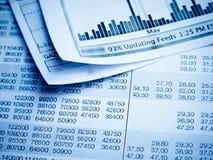 Diagrama financiero Fotografía de archivo libre de regalías