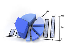 Diagrama financiero Imagen de archivo libre de regalías