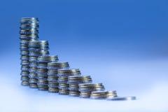 Diagrama financiero - el gráfico del desarrollo económico Foto de archivo