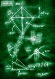 Diagrama hecho a mano verde de cómo construir una cometa fotos de archivo libres de regalías