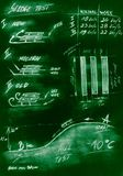 Diagrama hecho a mano verde del trineo del método de prueba imagen de archivo libre de regalías