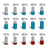 Diagrama hexagonal del gráfico de la carta del porcentaje de la barra Imagenes de archivo