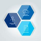 Diagrama hexagonal, esquema, elemento del infographics Foto de archivo libre de regalías