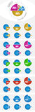 Diagrama infographic del círculo Fotografía de archivo