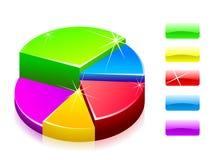 Diagrama lustroso no branco Fotos de Stock