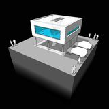 Diagrama moderno da casa Imagens de Stock