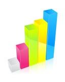 Diagrama multicolor Imagen de archivo libre de regalías