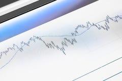 Diagrama na tela Imagens de Stock Royalty Free