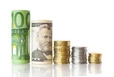 diagrama pieniądze Zdjęcie Stock