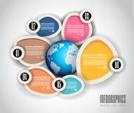 Diagrama plano del estilo, Infographic e icono de UI Imagenes de archivo