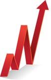 Diagrama rojo para arriba Imagen de archivo libre de regalías