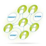 diagrama sieci wektor Zdjęcie Stock