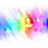 Diagrama social de los amigos del establecimiento de una red