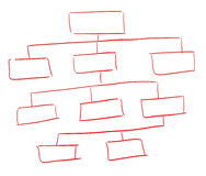Diagrama vazio Fotos de Stock