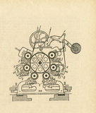 Diagrama velho do instrumento Imagens de Stock