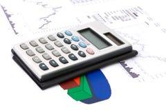 Diagrama y calculadora Imágenes de archivo libres de regalías