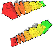 Diagramas da avaliação da energia Imagens de Stock
