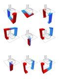 Diagramas da bomba de calor Fotografia de Stock
