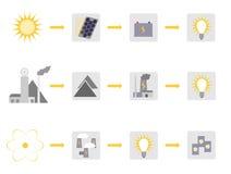 Diagramas da eletricidade Fotografia de Stock