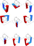 Diagramas de la pompa de calor Imágenes de archivo libres de regalías