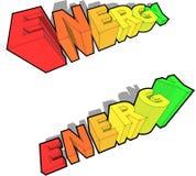 Diagramas del grado de la energía Imagenes de archivo