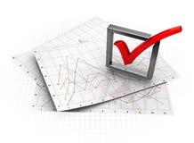 Diagramas do negócio Fotografia de Stock