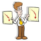 Diagramas do negócio Foto de Stock