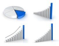 Diagramas do negócio ajustados Imagem de Stock Royalty Free