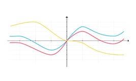 Diagramas dos elementos do mercado dos dados comerciais Imagens de Stock