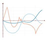 Diagramas dos elementos do mercado dos dados comerciais Imagem de Stock Royalty Free