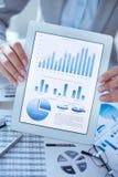 Diagramas e gráficos de Digitas fotografia de stock royalty free