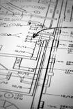 Diagramas esquemáticos Imagen de archivo