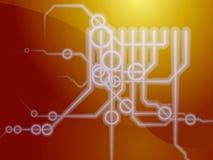 Diagramas esquemáticos técnicos Imagem de Stock Royalty Free