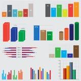 diagramas y gráficos del negocio Fotografía de archivo