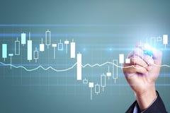 Diagramas y gráficos Estrategia empresarial, concepto de la tecnología del análisis de datos foto de archivo