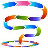 diagramcircularen möter behandlingsspolning royaltyfri illustrationer