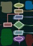 diagramflöde stock illustrationer