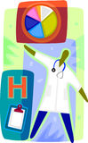 Diagramframställning av en doktor Royaltyfri Illustrationer
