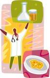 Diagramframställning av en medicinsk forskning Vektor Illustrationer